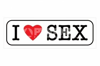 plakat I LOVE SEX
