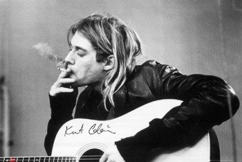 plakat KURT COBAIN - SMOKING