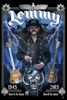 plakat LEMMY - BORN TO LOSE