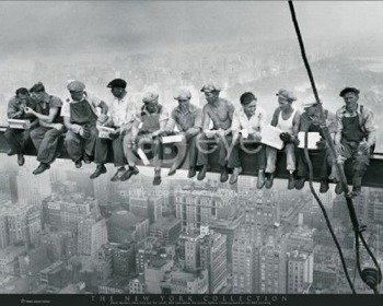 plakat NEW YORK - MEN ON GIRDER