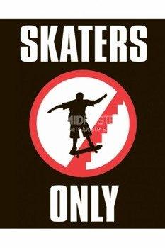 plakat  SKATERS ONLY