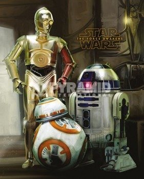 plakat STAR WARS - EPISODE VII (DROIDS)