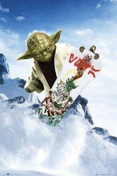 plakat STAR WARS - YODA SNOWBOARD