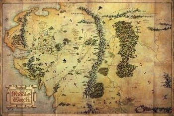 plakat THE HOBBIT - JOURNEY MAP