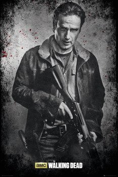 plakat THE WALKING DEAD - RICK BLACK AND WHITE