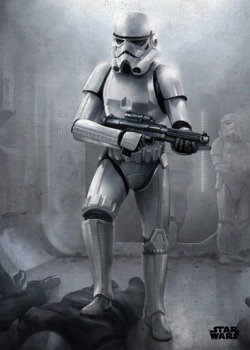 plakat z metalu STAR WARS - STORMTROOPER