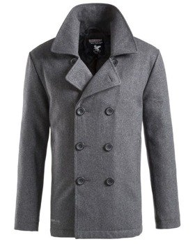 płaszcz marynarski PEA-COAT - ANTHRAZIT,- SURPLUS