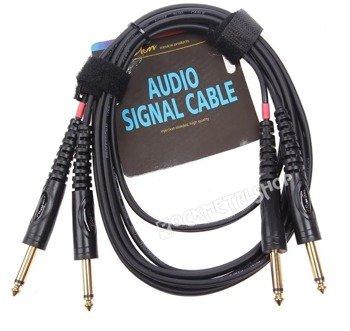 przewód audio BOSTON: 2x DUŻY JACK MONO (6.3mm) - 2x JACK MONO (6,3mm) / 1,5m