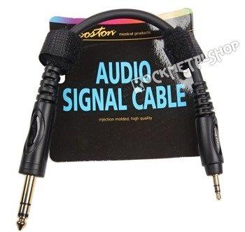 przewód audio BOSTON: DUŻY JACK (6.3mm) stereo - MAŁY JACK (3.5mm) stereo / 30cm