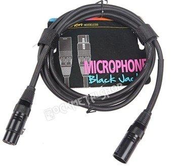 """przewód mikrofonowy BOSTON """"BLACK JACK"""" XLR męski -  XLR żeński / 1m"""