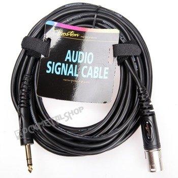 przewód mikrofonowy BOSTON: XLR - duży jack (6.3mm) stereo / 9m