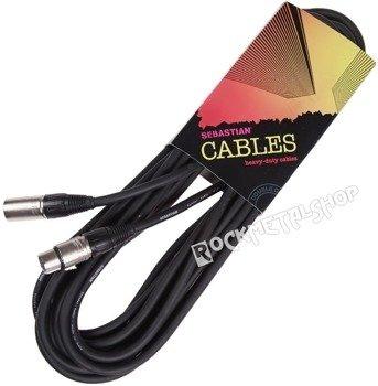 przewód mikrofonowy SEB-700-SBK: XLR żeński -  XLR męski / 7,5m