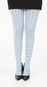 rajstopy Gingham Printed Tights - Blue