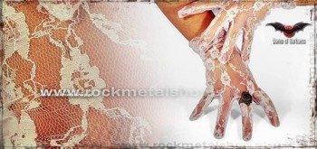 rękawiczki białe