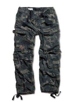 spodnie bojówki AIRBORNE VINTAGE TROUSERS BLACK CAMO