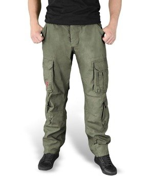 spodnie bojówki AIRBORNE VINTAGE TROUSERS SLIMMY OLIV
