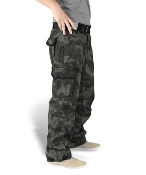 spodnie bojówki PREMIUM VINTAGE - BLACK CAMO