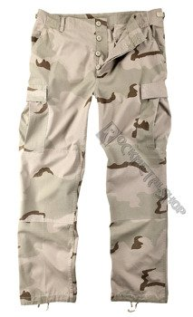 spodnie bojówki US FELDHOSE TYP BDU R/S CO PREWASH 3COL. Desert