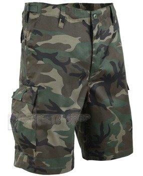 spodnie bojówki krótkie COMBAT SHORTS - WOODLAND