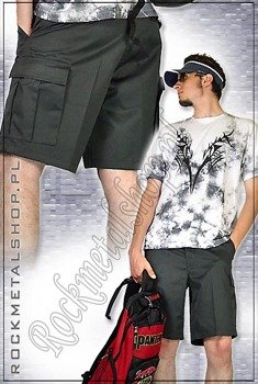 spodnie bojówki krótkie Combat Shorts schwarz