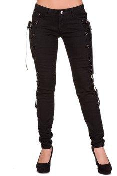 spodnie damskie BANNED - BLACK TROUSERS