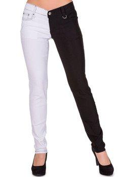 spodnie damskie BANNED - WHITE/BLACK