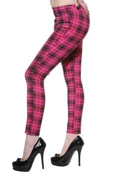 spodnie damskie PINK GRID