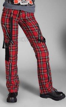 spodnie damskie PUNK PANTS TARTAN RED/GREEN