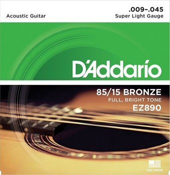 struny do gitary akustycznej D'ADDARIO EZ890 Super Light /009-045/