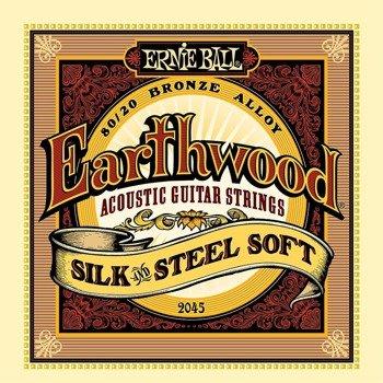 struny do gitary akustycznej ERNIE BALL Earthwood 80/20 SILK AND STEEL Soft EB2045 /011-052/
