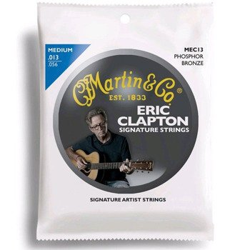 struny do gitary akustycznej MARTIN MEC13: CLAPTON'S CHOICE™ Phosphor Bronze, Medium /013-056/
