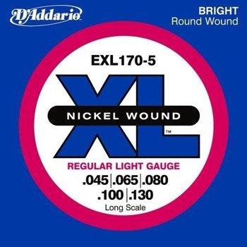 struny do gitary basowej 5str. D'ADDARIO EXL170-5 /045-130/
