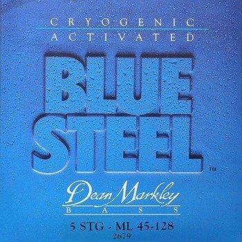 struny do gitary basowej 5str. DEAN MARKLEY - BLUE STEEL ML 45-128