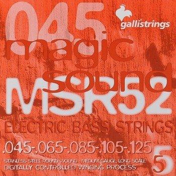 struny do gitary basowej 5str. GALLI STRINGS - MAGIC SOUND MSR52 HEXAGONAL /045-105/