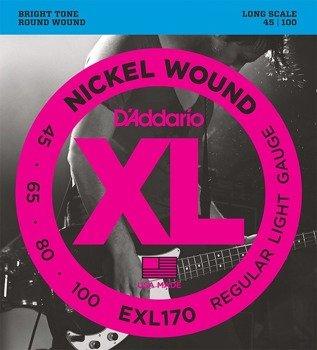 struny do gitary basowej D'ADDARIO EXL170 /045-100/