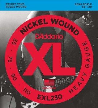 struny do gitary basowej D'ADDARIO EXL230 /055-110/