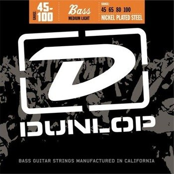 struny do gitary basowej JIM DUNLOP  - NICKEL PLATED /045-100/ (DBN45100)