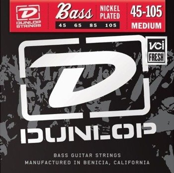 struny do gitary basowej JIM DUNLOP  - NICKEL PLATED /045-105/ (DBN45105)