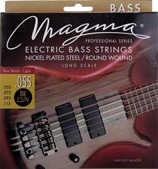 "struny do gitary basowej MAGMA BE220N Nickel Plated ""New Metal Light+"" /055-115/"