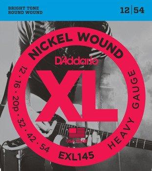 struny do gitary elektrycznej D'ADDARIO EXL145 /012-054/