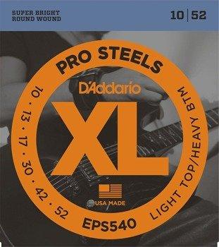 struny do gitary elektrycznej D'ADDARIO XL ProSteels EPS540 /010-052/