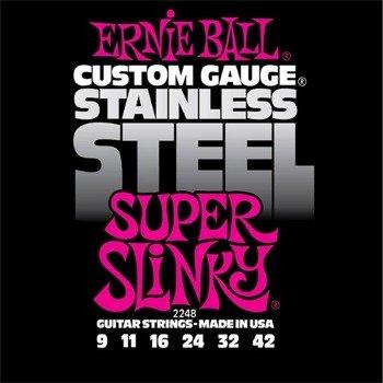 struny do gitary elektrycznej ERNIE BALL EB2248 Slinky Super /009-042/