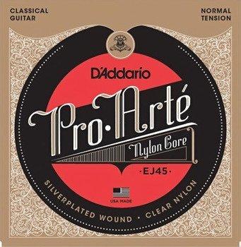 struny do gitary klasycznej EJ49 PRO-ARTE BLACK NYLON, NORMAL TENSION /028-043/