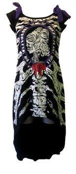 sukienka BANNED - SKELETON PURPLE