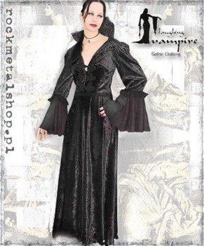 suknia VICTORIA LONG BLACK [GT336] Laughing Vampire
