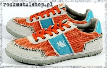 trampki NEW AGE - ORANGE/GREY (C6HB004)