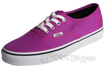 trampki damskie VANS - AUTHENTIC NEON PURPLE TRUE WHITE
