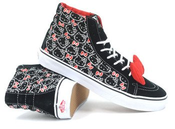 trampki damskie VANS  - SK8-HI HELLO KITTY (BLACK/TRUE WHITE)