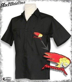 workshirt METALLICA - BURNING SKULL