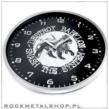 zegar ścienny DESTROY BABILON (ramka metallic)